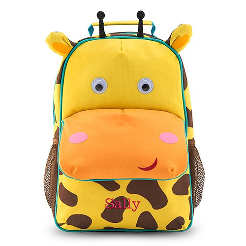 personalized kids backpack giraffe