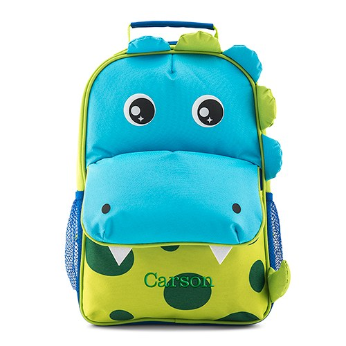personalized kids backpack dinosaur