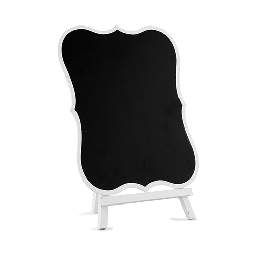 Chalkboard Table Sign with White Frame - Large