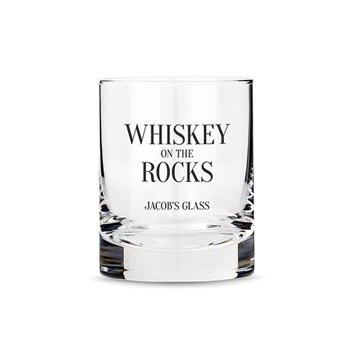 personalized whiskey glasses with
