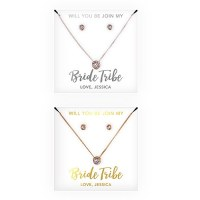 Swarovski Crystal Earring & Solitaire Necklace Set - Bride ...