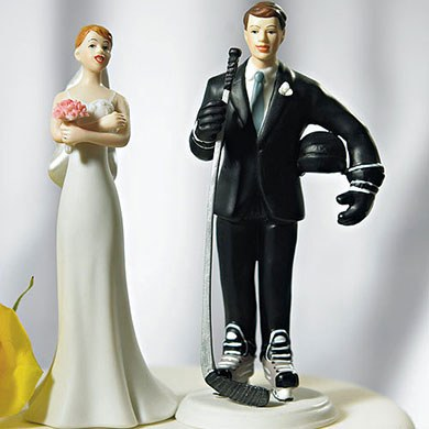 Hockey Player Groom Cake Topper The Knot Shop