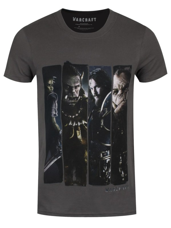 Warcraft Characters Slice Men' Charcoal T-shirt