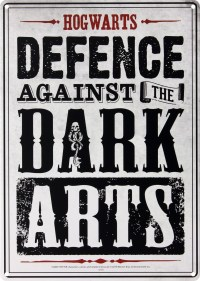 Harry Potter Defence Against The Dark Arts Tin Sign - Buy ...