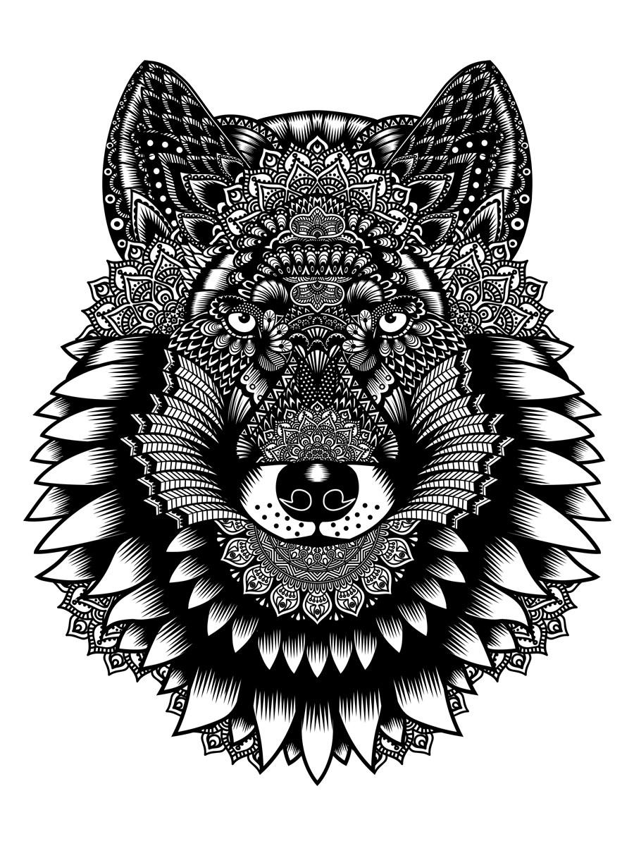 unorthodox collective wolf mandala