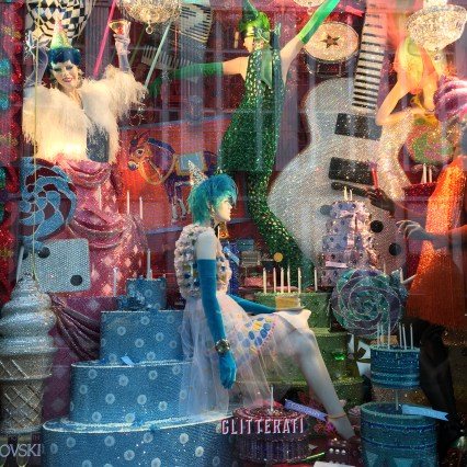 Lots of glitz, glam and sparkle with this year's windows! We loved Bergdorf Goodman's windows and even got a behind-the-scenes peek at Barney's Chillin' Out scene.