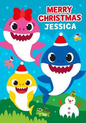 Baby Shark Christmas : shark, christmas, Shark, Merry, Christmas, Moonpig