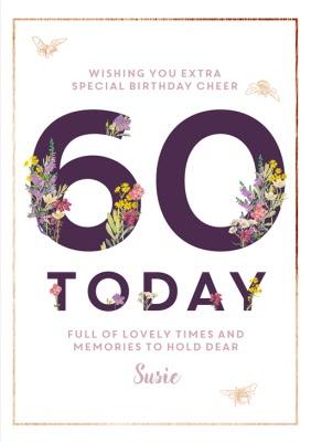 Funny 60th Birthday Wishes For Female Friend : funny, birthday, wishes, female, friend, Metallic, Lettering, Birthday, Moonpig