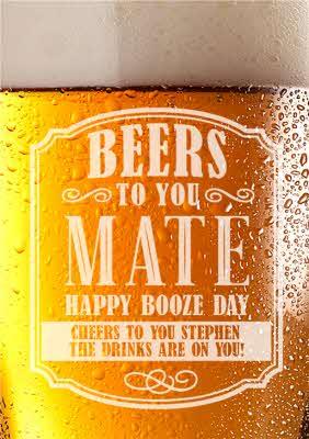 Happy Birthday Booze : happy, birthday, booze, Funny, Birthday, Card,, Happy, Booze, Drinks, Moonpig