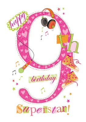 Happy 9 Birthday : happy, birthday, Happy, Birthday, Superstar, Moonpig