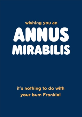 Bum Pictures Funny : pictures, funny, Wishing, Annus, Mirabilis, Funny, Typographic, Birthday, Moonpig