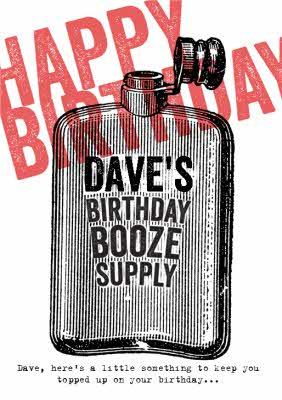 Happy Birthday Booze : happy, birthday, booze, Birthday, Booze, Supply, Personalised, Happy, Moonpig