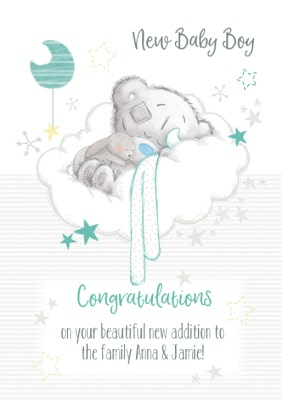 Congratulations For New Baby Boy Images : congratulations, images, Tatty, Teddy, Congratulations, Moonpig