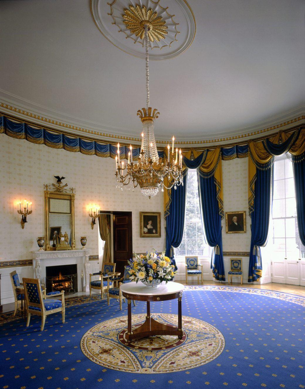 White House Blue Room : white, house, White, House, Furnishings:, Historical, Association