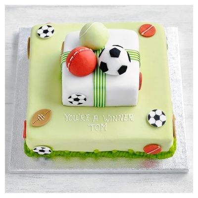 Fiona Cairns 2 Tier Multi Sports Cake Waitrose Partners