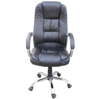 Homegear PU Leather Executive Wheeled Computer Desk Chair ...
