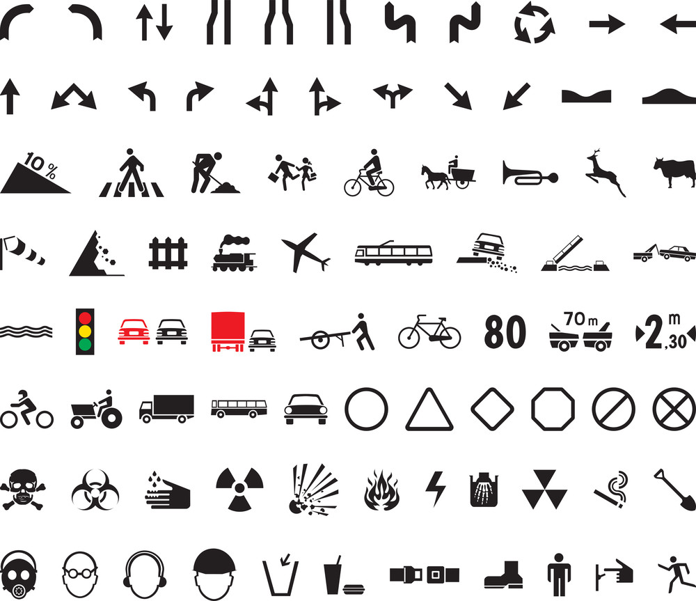 82 Universal Pictograms Royalty-Free Stock Image