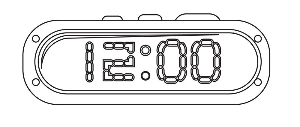 Alarm Clock Drawing Vector Royalty-Free Stock Image