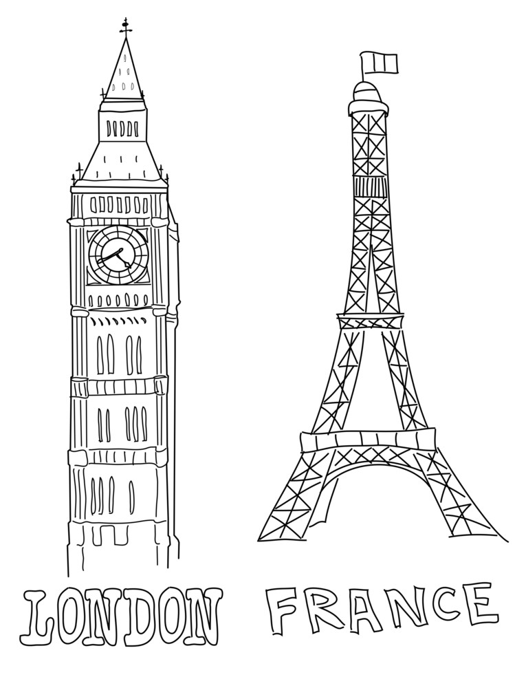 Big Ben And Eiffel Tower Royalty-Free Stock Image