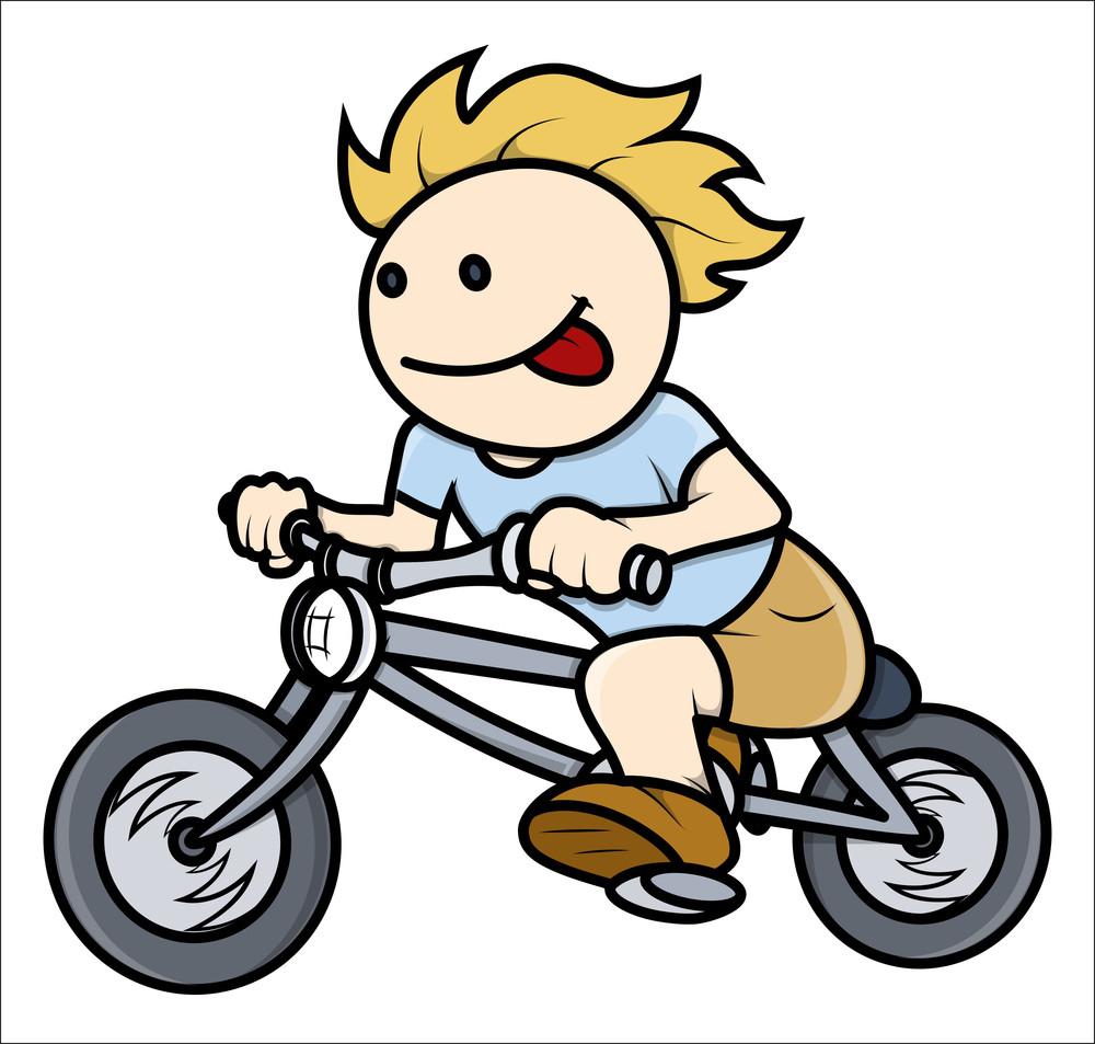 boy riding on bike
