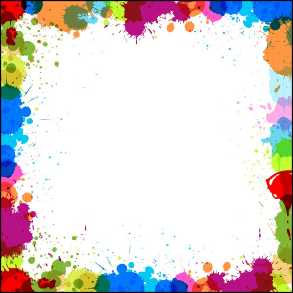 Colored Drops Border Design Vector Royalty-free Stock