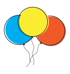 colorful balloons clipart [ 1000 x 985 Pixel ]