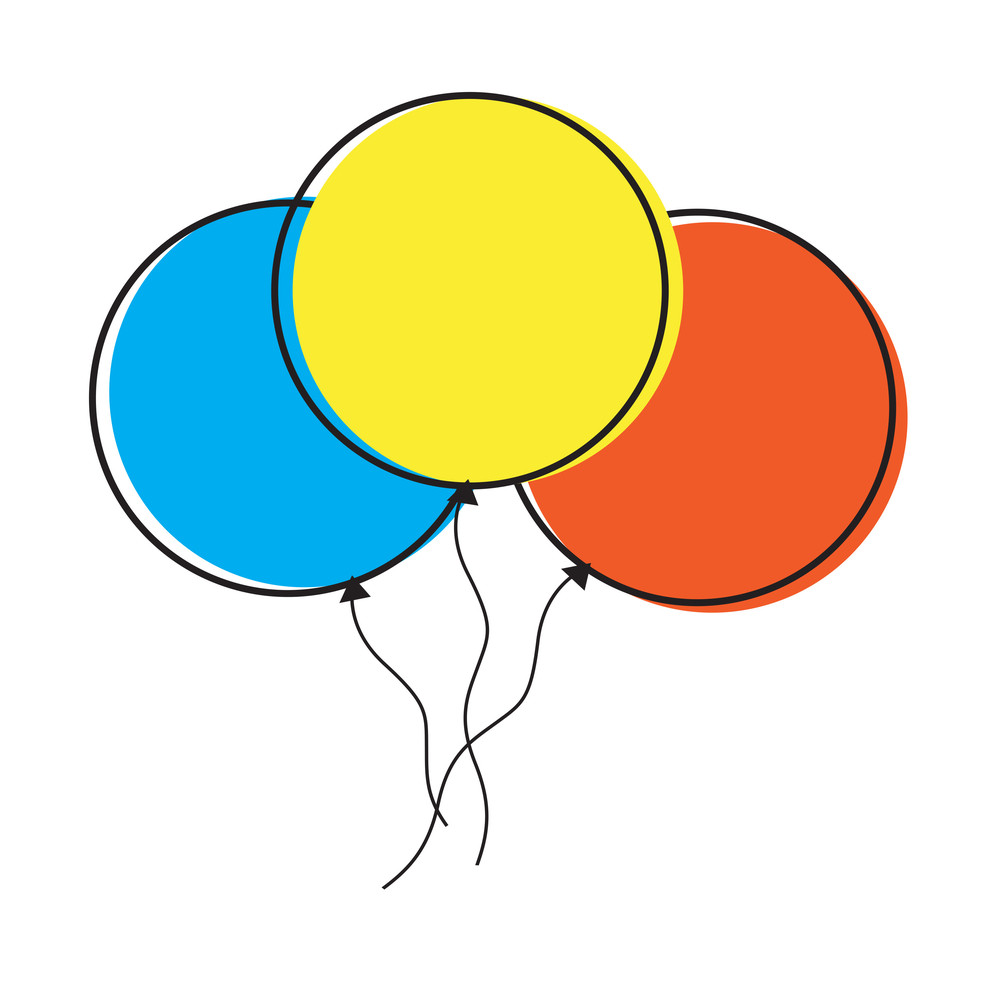 hight resolution of colorful balloons clipart