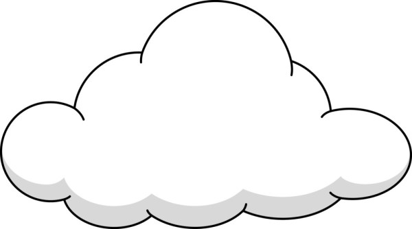 fluffy cloud royalty-free stock
