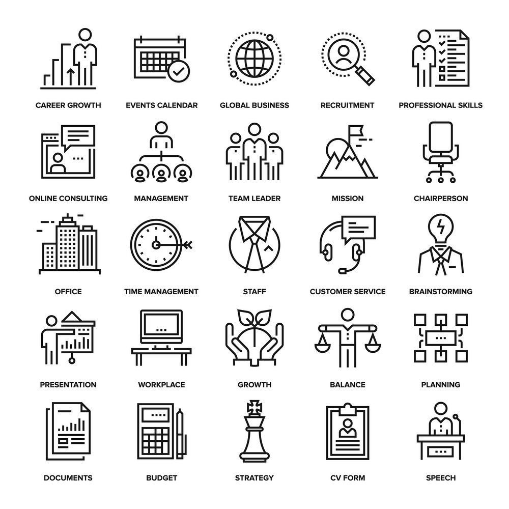 Abstract vector collection of line corporate business
