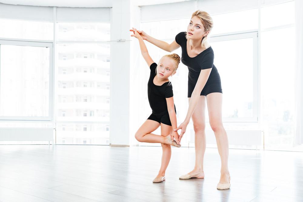young little girl ballerina