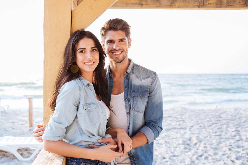 young smiling romantic couple