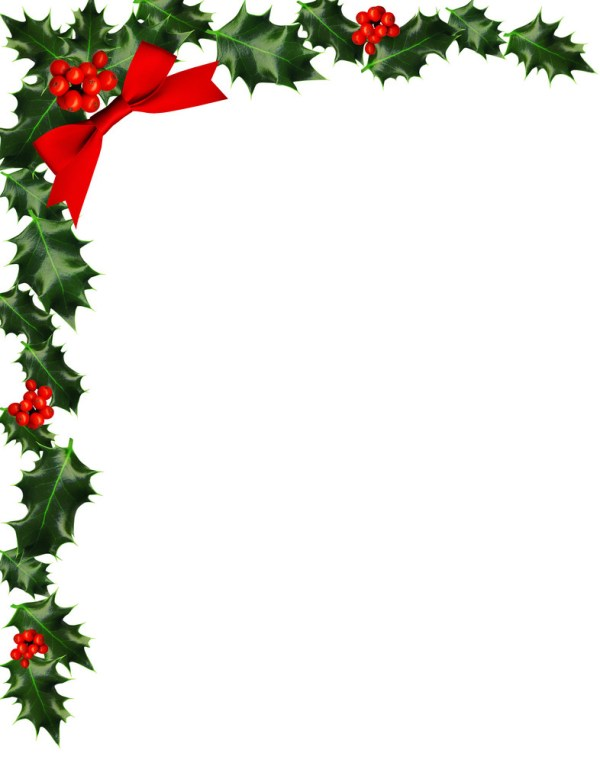 holly with berries border royalty-free