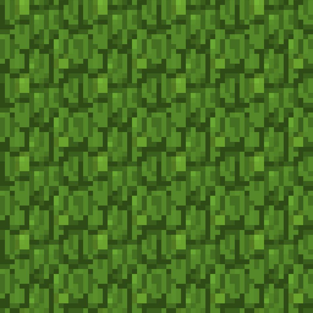 green forest minecraft pattern