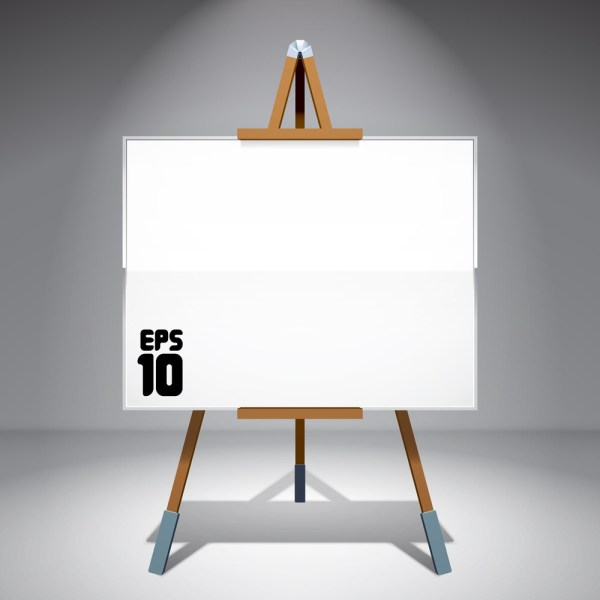 Vector Blank Canvas Painting Easel Royalty-free Stock