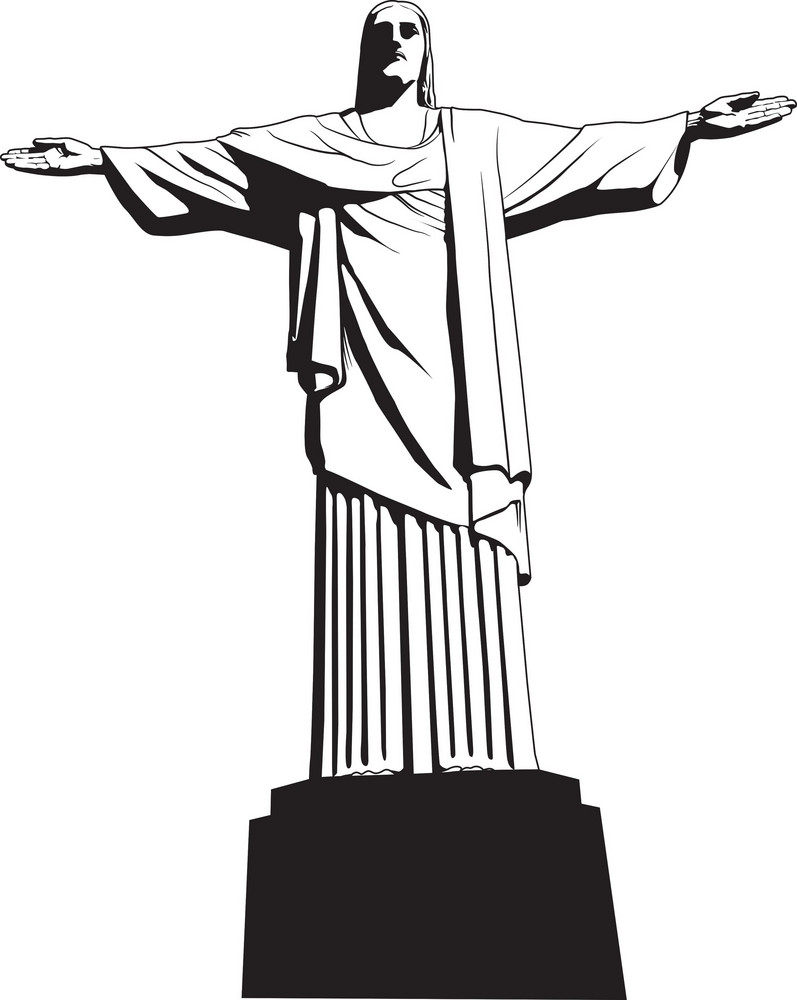 Vector Christ The Redeemer Statue Royalty-Free Stock Image