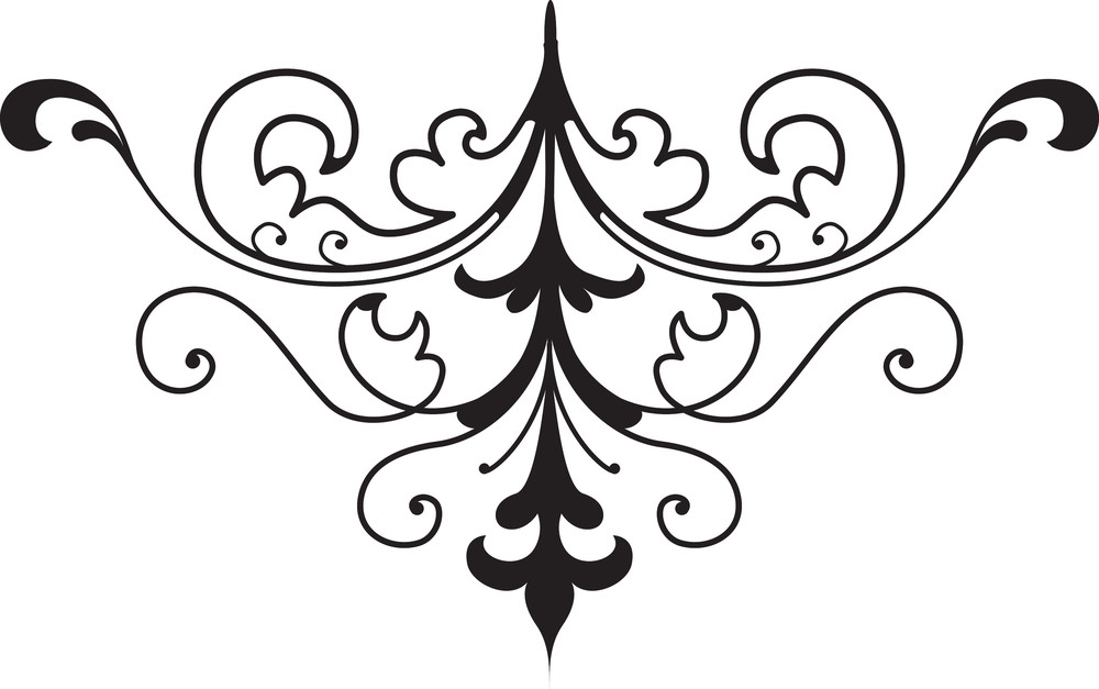 vector floral element royalty
