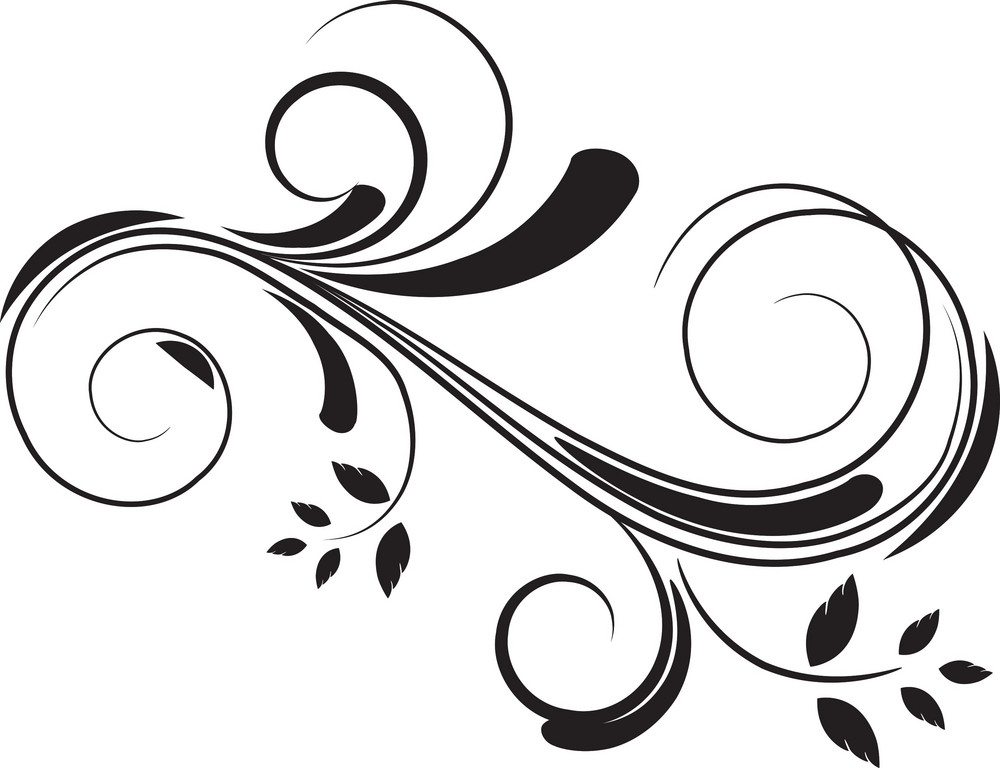Vector Floral Flourish Royalty-Free Stock Image