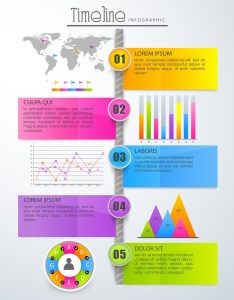 Glossy colorful timeline infographic template layout with statistical graphs chart bar and world also rh storyblocks