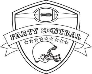 American Football Helmet Line Drawing Royalty-Free Stock