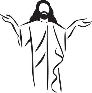 jesus is my salvation sacred cross hand drawing image