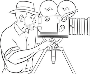 Cameraman Film Crew Hd Video Camera Royalty-Free Stock