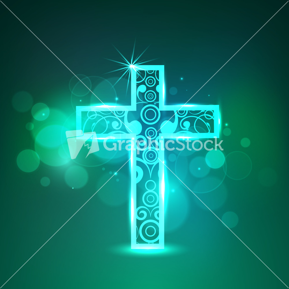 Good Friday Background With Religious Christian Cross