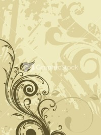 Whimsical Green Flowers And Swirls Wallpaper