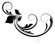 curly floral design stock