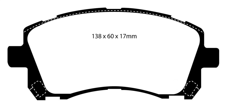 EBC Brakes DP31134C Redstuff Ceramic Low Dust Brake Pad