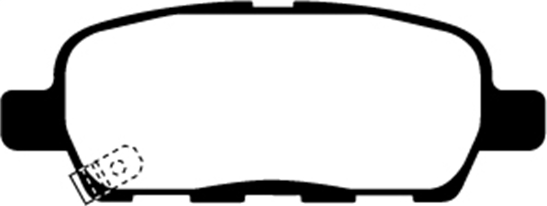 EBC Brakes DP21666 Greenstuff 2000 Series Sport Brake Pad