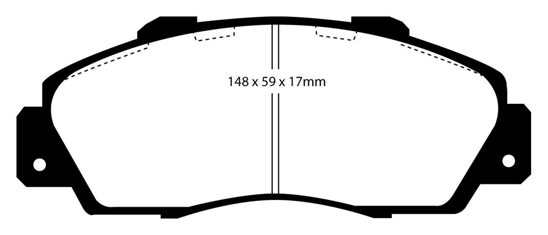 EBC Brakes UD503 Ultimax OEM Replacement Brake Pad