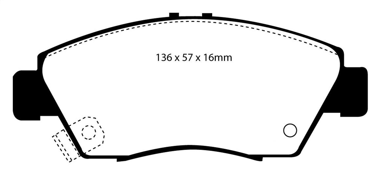 EBC Brakes DP2891 Greenstuff 2000 Series Sport Brake Pad