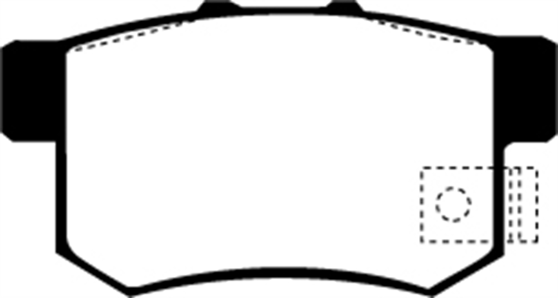 EBC UD536 Ultimax OEM Replacement Rear Brake Pads