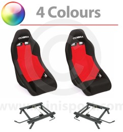 cobra clubman seat package red [ 1200 x 1200 Pixel ]